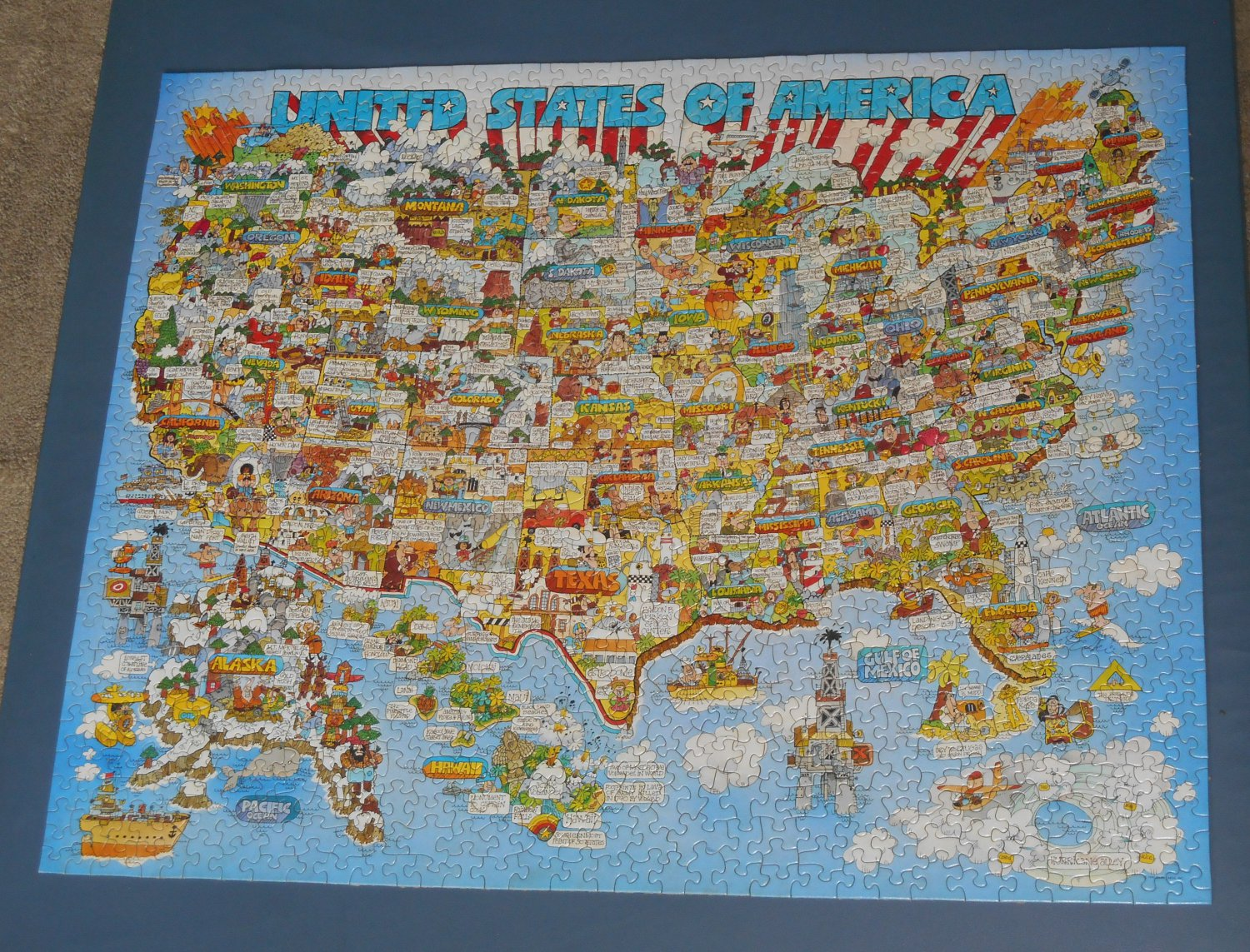 Complete Map Of Usa.The Good Old U S Of A Usa Map 1000 Piece Jigsaw Puzzle Springbok