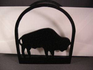 Buffalo Wood Napkin or letter holder