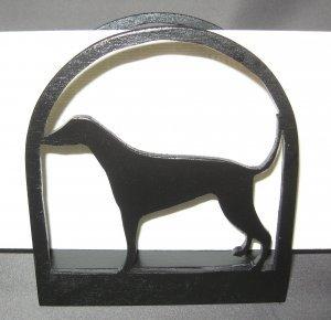 Dog Wooden Napkin Holder or Letter Holder