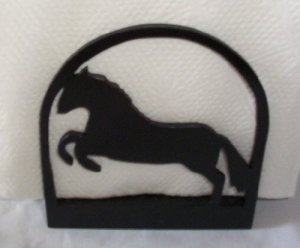 Prancing Horse Wooden Napkin Holder or Letter Holder