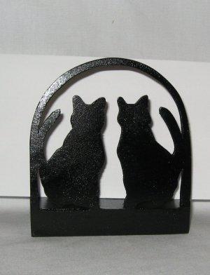 2 Cats kitten Wooden Napkin Holder or Letter Holder
