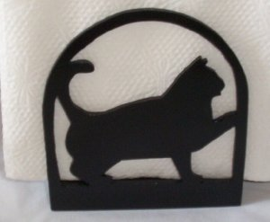 Cat Kitten with raised paw Nakin holder or letter holder