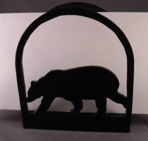 Bear Wood Napkin Holder or Letter Holder