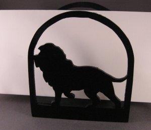 Lion Wooden Napkin Holder or Letter Holder