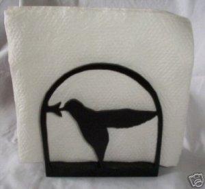 Hummingbird wood letter holder or napkin holder
