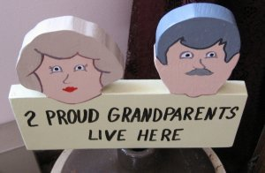 2 Proud Grandparents Live Here Garden Sign