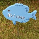 Gone Fishing Fish Garden Sign