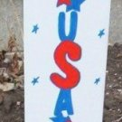 USA and Stars Patriotic Garden Sign
