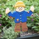 Scarecrow Wooden Garden sign