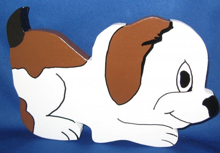 Puppy Dog Wood Lawn Decoration