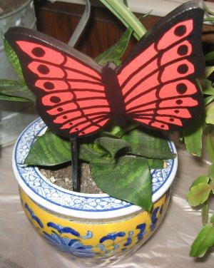 Red Butterfly Plant Poke