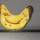 Yellow Chicken Plant Poke