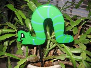 Caterpillar green bug trim Plant Poke