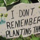 I Don't Remember Planting That  wood garden sign