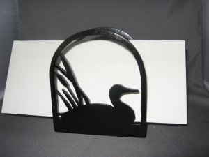 Loon duck goose wooden napkin holder or letter holder