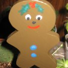 Gingerbread Christmas wood  Plant Poke