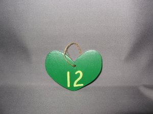 Green Bay Packer Aaron Rodgers Heart Wood Ornament
