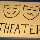 Theater door  Sign pine wood handpainted