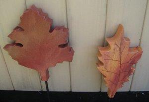 2  Wood leaves Fall decoration