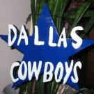 Dallas Cowboys wood garden sign