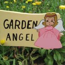 Garden Angel wood garden sign