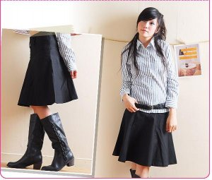C314 Korea OL pleated skirt Size S/M