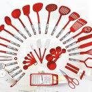 Red 38-piece Kitchen Utensils Set