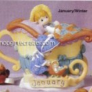 Precious Moments by Enesco January/Winter Collectible Mini Teapot