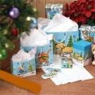24-Piece Cat & Dog Holiday Gift Bags and Box Ensemble