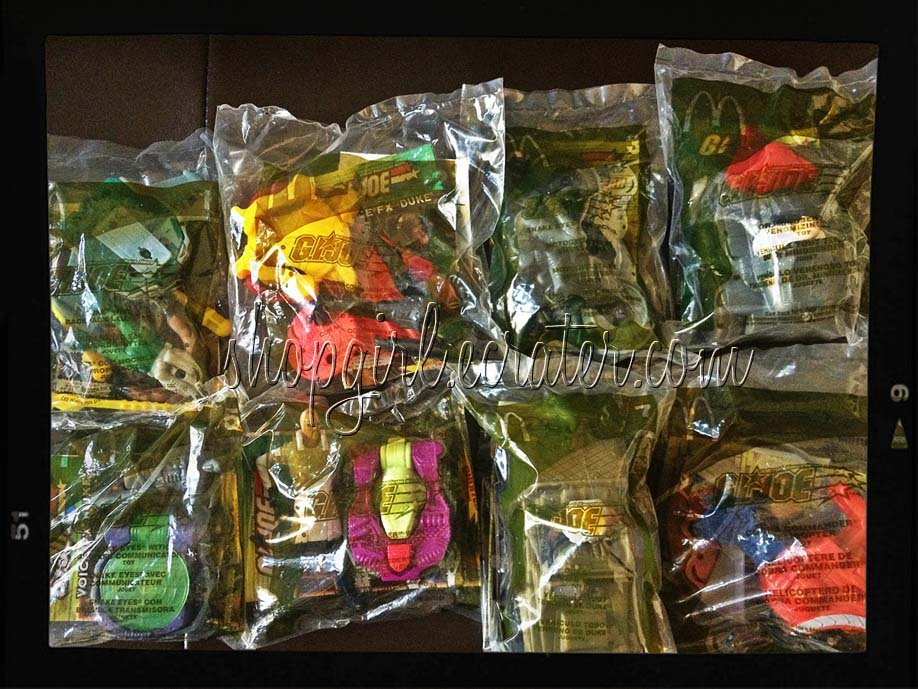 McDonald's 2004 G.I. Joe Happy Meal Complete Set of 8 Toys