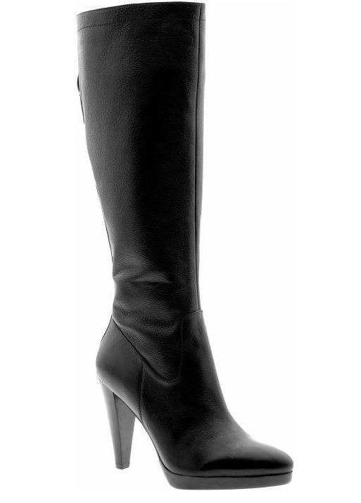 *SALE* Banana Republic Christi Black Leather High-Heel Boots Size 5