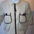 Rare MANOUSH Gingham Zip Up Embroidered Jacket S