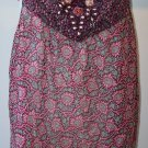 $460 ANNA SUI Silk Jewel Flower Purple Tie Top Cami 6