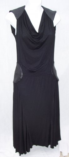WOODLEY PARK LBD Black Retro Knit Dress Barneys S $400