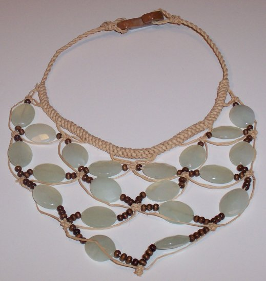 Brazilian Jade Wood Bead Choker Necklace- Anthropologie