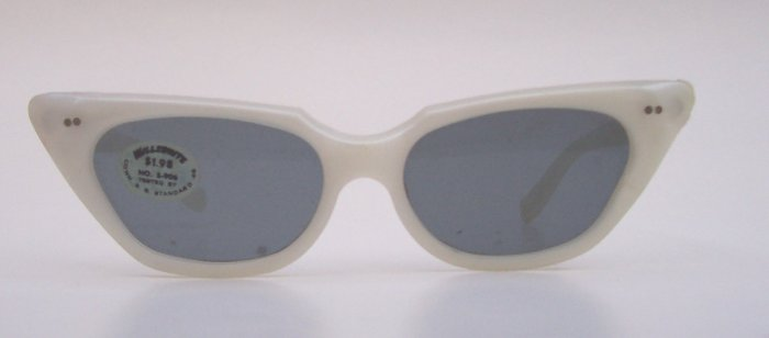 WILLSONITE Retro Vintage Pearl Cat Eye Sunglasses Rare