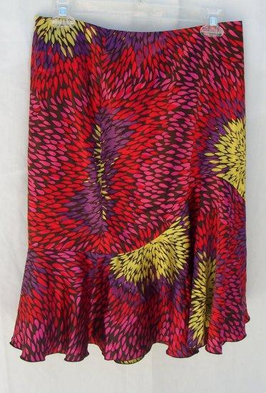 TRINA TURK Neiman Marcus Art Deco Mod Print Silk Skirt