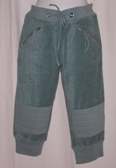Pinko Sunday Morning Aqua Cropped Pant Terry Short L