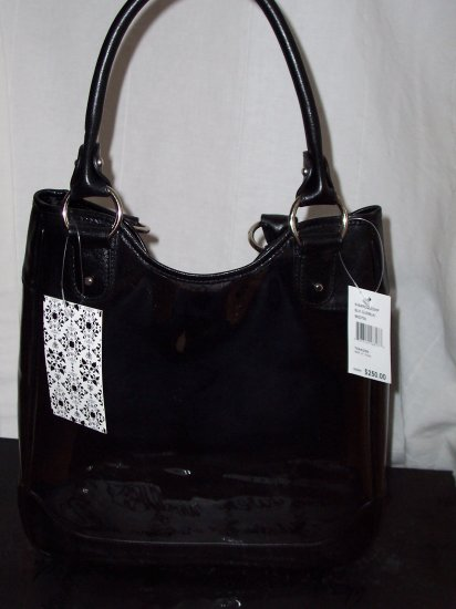 $250 Rare Thakoon Leather Clear Lace Baroque Purse Tote