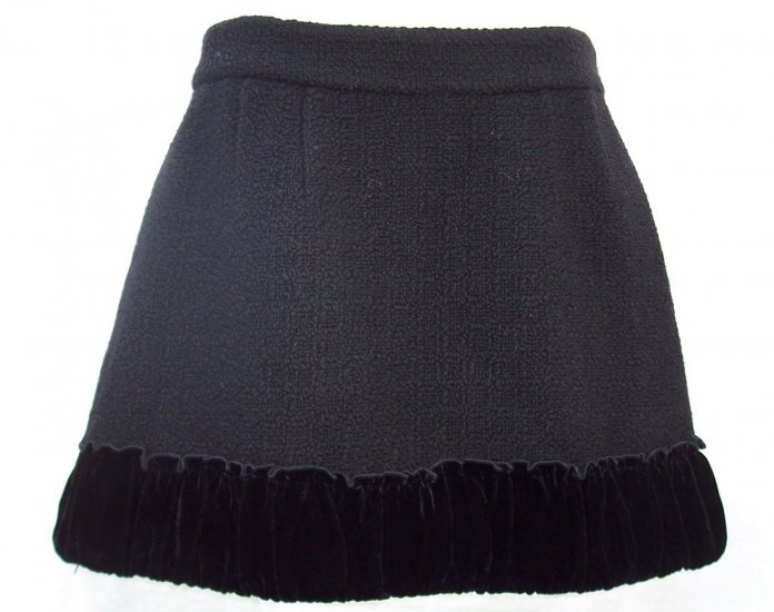MANOUSH Wool Black Mini Skirt