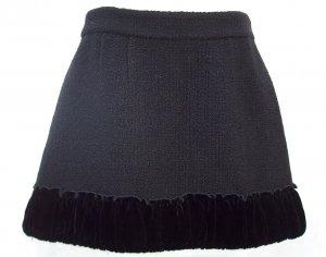 MANOUSH Wool Black Mini Skirt