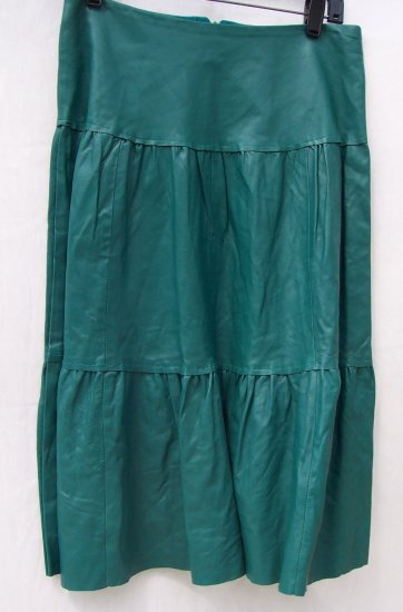 TWELFTH STREET BY CYNTHIA VINCENT Leather Long Skirt S
