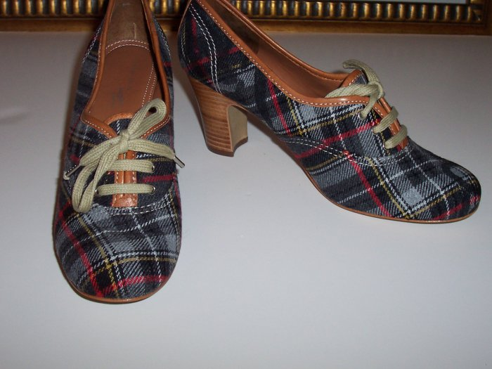 Vivienne Westwood for Nine West Oxford Plaid Heel Nine West 5.5