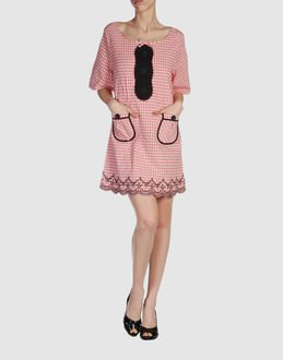 MANOUSH Anthropologie Gingham Embroidered Mod Retro Mini Dress