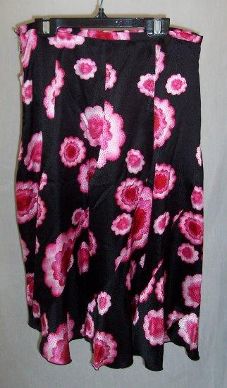 TRINA TURK Neiman Marcus Art Deco Flower Silk Skirt S