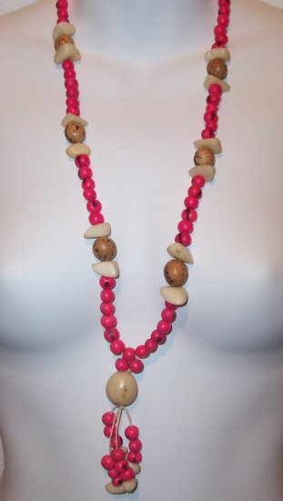 Brazilian Wood Bead Boho Hand Crafted Necklace