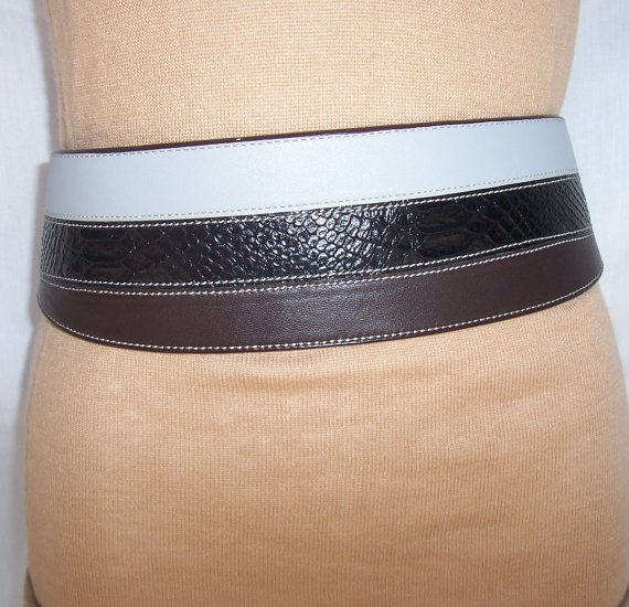 TWELFTH STREET 12th St. by CYNTHIA VINCENT Leather Python Waist Belt