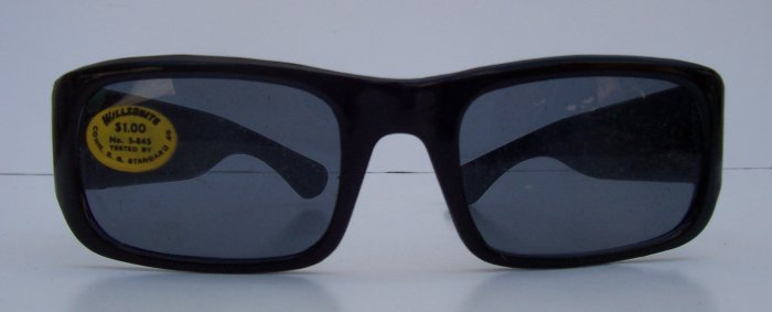 WILLSONITE Retro Vintage Plastic Square Sunglasses Rare