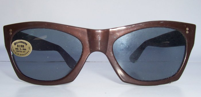 WILLSONITE Retro Vintage Plastic Wayfarer Sunglasses Rare