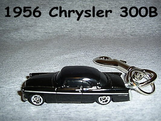 1956 CHRYSLER 300B CAR  KEYCHAIN & SWIVEL CLIP (FREE SHIPPING)